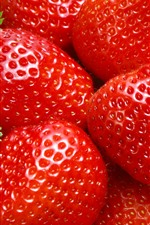 Preview iPhone wallpaper Fresh strawberries, red, fruits