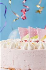 Feliz aniversario, bolo, decoração
