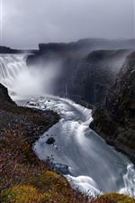 Iceland, Dettifoss, beautiful waterfall