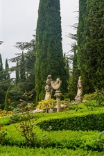 Preview iPhone wallpaper Italy, Tuscany, park, trees, statue