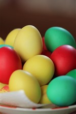 Many colorful eggs, Easter theme
