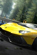 Need For Speed, supercarro amarelo da Lamborghini