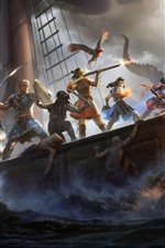 Preview iPhone wallpaper Pillars of Eternity II: Deadfire, RPG game