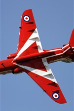 Preview iPhone wallpaper Red Arrows aircraft