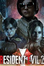 Preview iPhone wallpaper Resident Evil 2, PC game, rain