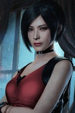 Preview iPhone wallpaper Resident Evil 2, short hair girl