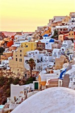 Preview iPhone wallpaper Santorini, Greece, city, houses