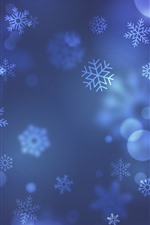 Preview iPhone wallpaper Snowflakes, art background