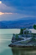 Espanha, malaga, gazebo, montanha, lago