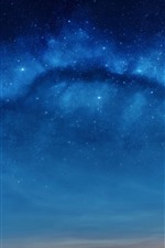Preview iPhone wallpaper Stars, blue sky, night