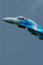 Preview iPhone wallpaper Su-27 fighter, flight, sky, aircraft