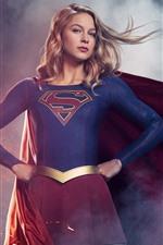 Preview iPhone wallpaper Supergirl, TV series, blonde girl, superhero
