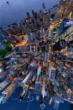 Preview iPhone wallpaper USA, New York, top view the city, skyscrapers