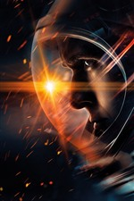 Preview iPhone wallpaper Astronaut, sparks, space