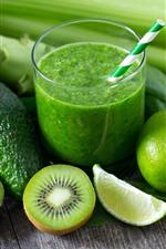 Preview iPhone wallpaper Avocado, kiwi, green lemon, drinks