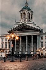 Belgium, Brussels, Palace, night, lights
