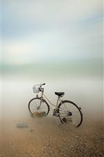 Bicicleta, mar, costa
