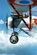 Preview iPhone wallpaper Biplane, pilot, sky, flight
