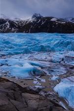 미리보기 iPhone 배경 화면 푸른 얼음, 산, 겨울