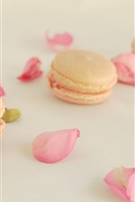 Preview iPhone wallpaper Cakes, pink rose petals