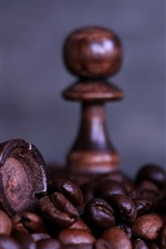 Preview iPhone wallpaper Chess, horse, coffee beans