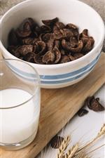 Preview iPhone wallpaper Chocolate, milk, food