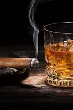 Cigar, whiskey