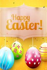 Ovos coloridos, feliz Páscoa, imagens de arte