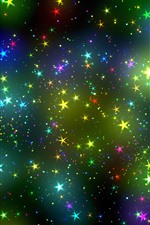 Colorful stars, sky, abstract design