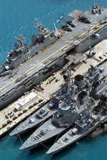 Preview iPhone wallpaper Destroyer, military, sea, weapons