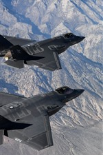 Preview iPhone wallpaper F-35C Lightning II fighter, flight