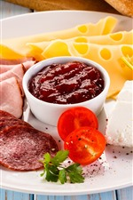 Preview iPhone wallpaper Food, meat, cheese