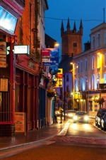 Preview iPhone wallpaper Ireland, city at night, houses, street, lights