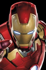 Preview iPhone wallpaper Iron Man, hands, superhero, black background
