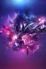 Liga dos anjos, guerreiro, estilo roxo