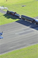 Preview iPhone wallpaper New Zealand, train, airplane
