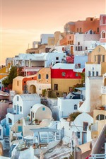 Preview iPhone wallpaper Oia, Greece, houses, sea, Aegean