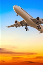 Preview iPhone wallpaper Passenger plane, flight, tower