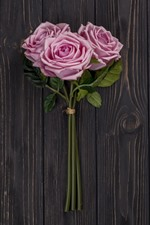 Preview iPhone wallpaper Pink roses, wood board background