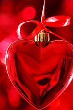 Red love heart, decoration, romantic