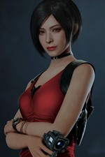 Preview iPhone wallpaper Short hair girl, Resident Evil 2