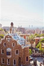 Espanha, barcelona, cidade, raios sol