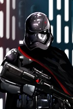 Preview iPhone wallpaper Star Wars, soldier, helmet, weapon, art picture