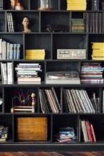 Study room, books