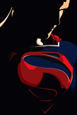 Preview iPhone wallpaper Superman, superhero, vector picture