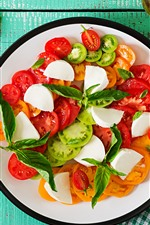 Preview iPhone wallpaper Tomato slices, salad