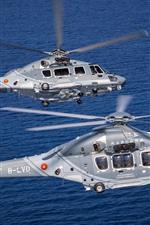 미리보기 iPhone 배경 화면 2 대의 헬리콥터, 바다