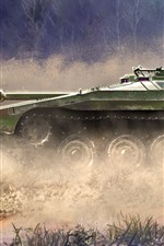 Preview iPhone wallpaper World of Tanks, dust