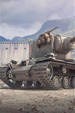 Vorschau des iPhone Hintergrundbilder World of Tanks, Berge, Krieg