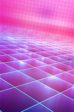 Preview iPhone wallpaper Abstract neon, pink light, creative picture